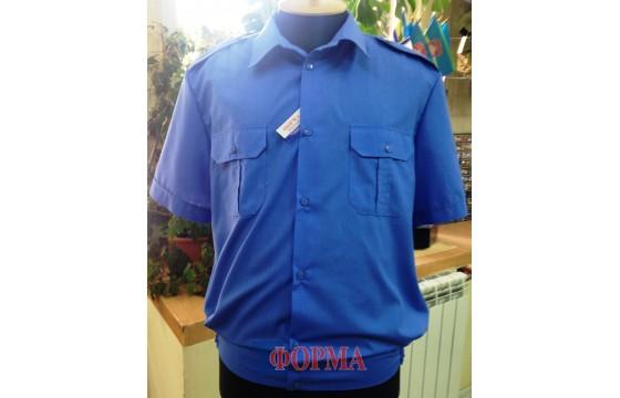 Рубашка форменная МВС короткий рукав (синяя)