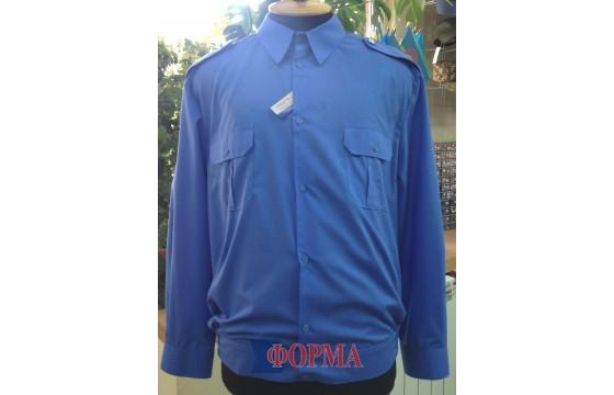 Рубашка форменная МВС длинный рукав (синяя)