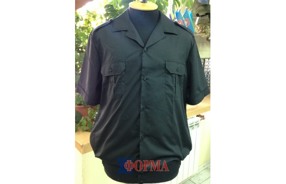 Рубашка форменная черная короткий рукав