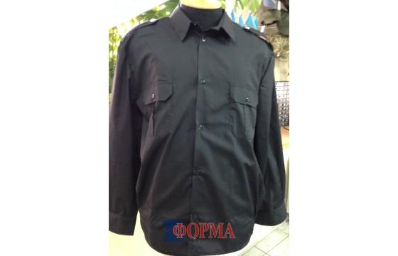 Рубашка форменная черная длинный рукав