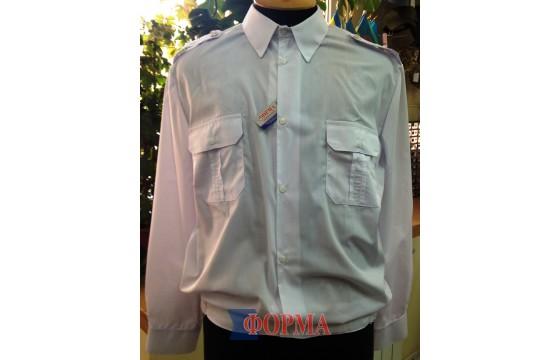 Рубашка форменная МВС длинный рукав (белая)