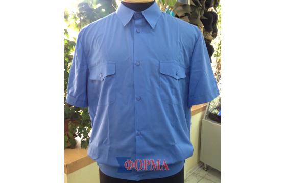 Рубашка форменная ЖД короткий рукав (синяя)