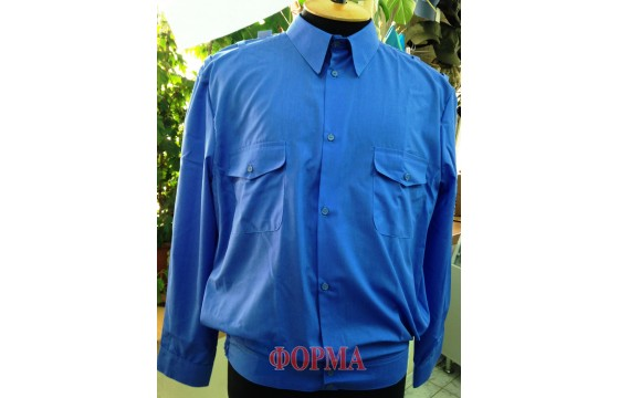 Рубашка форменная ЖД длинный рукав (синяя)