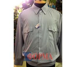 Рубашка форменная серая длинный рукав