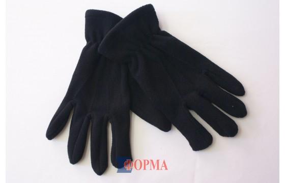 перчатки флисовые чёрные