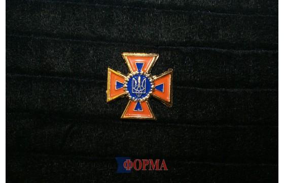 кокарда ДСНС Украины (пластик)