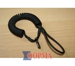 Страховачный ремешок-спираль  для пистолета(чёрный)