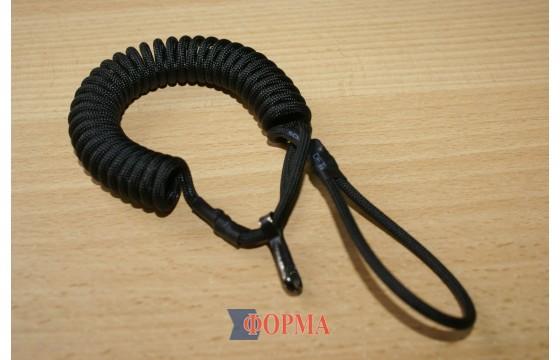 Страховочный шнур спиральный черный