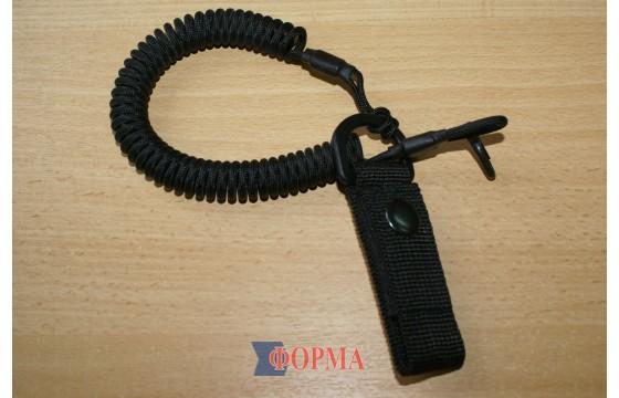 Страховачный ремешок-спираль  для пистолета (чёрная