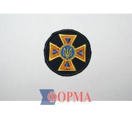 Кокарда ДСНС Украины (пришивная)