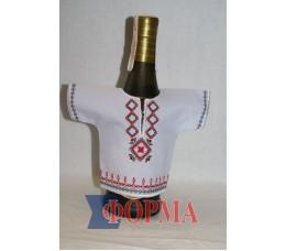 Сувенирный чхол-рубашка на бутылку (вышиванка)