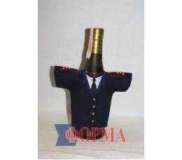 Сувенирный чхол-рубашка на бутылку (мвд)