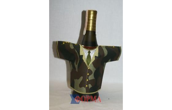 Сувенирный чхол-рубашка на бутылку (камуфляж)