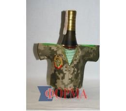 Сувенирный чхол-рубашка на бутылку (пограничник)