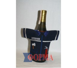 Сувенирный чхол-рубашка на бутылку (спасатель)