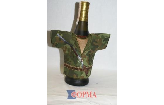Сувенирный чхол-рубашка на бутылку (охотник)