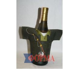 Сувенирный чхол-рубашка на бутылку (рыбак)