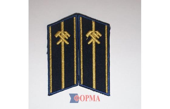 Петлицы ЖД на китель младшего офицерского состава
