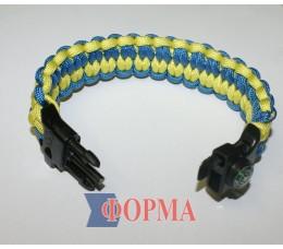 Браслет выживания (голубой+жёлтый)