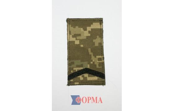 Погоны МО пиксель (старший солдат)